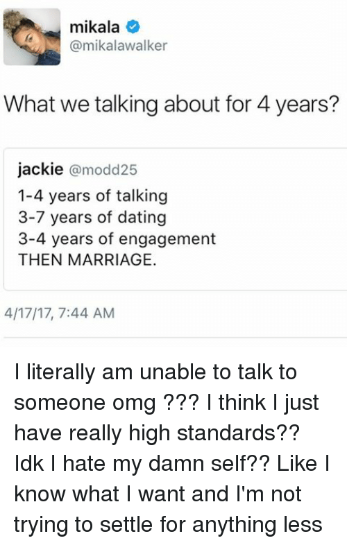 standards for dating