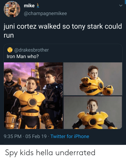 fcc5e7557af Mike Juni Cortez Walked So Tony Stark Could Run Iron Man Who  935 PM ...