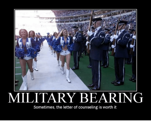 Bear, Bears, and Military: MILITARY BEARING  Sometimes, the letter of counseling is worth it