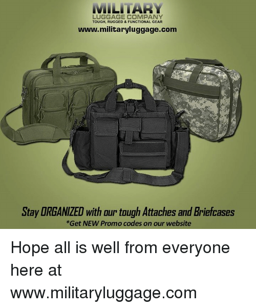d87bde9de742 MILITARY LUGGAGE COMPANY TOUGH RUGGED & FUNCTIONAL GEAR ...