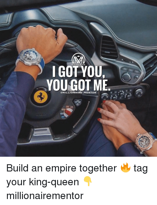 Memes, 🤖, and Empires: MILLIONAIREMENTOR  I GOT YOU,  YOU GOT ME  @MILLIONAIRE MENTOR Build an empire together 🔥 tag your king-queen 👇 millionairementor