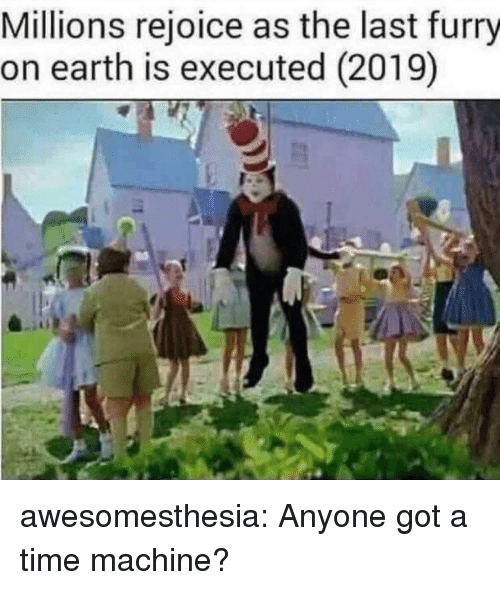 Tumblr, Blog, and Earth: Millions rejoice as the last furry  on earth is executed (2019) awesomesthesia:  Anyone got a time machine?