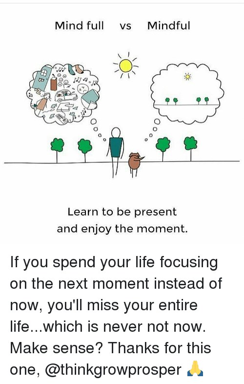 Mindful Or Mind Full Can You And Your >> Mind Full Vs Mindful Learn To Be Present And Enjoy The Moment If You