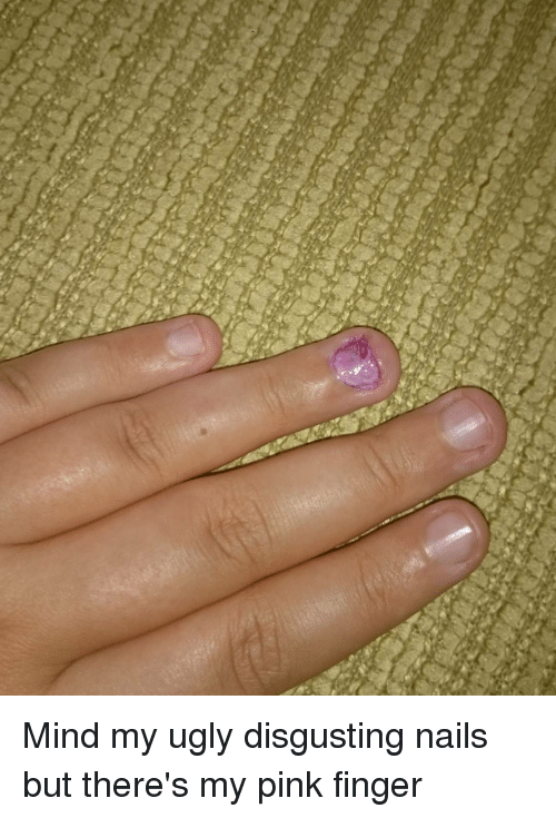 Fingering The Pink With Pink Nails