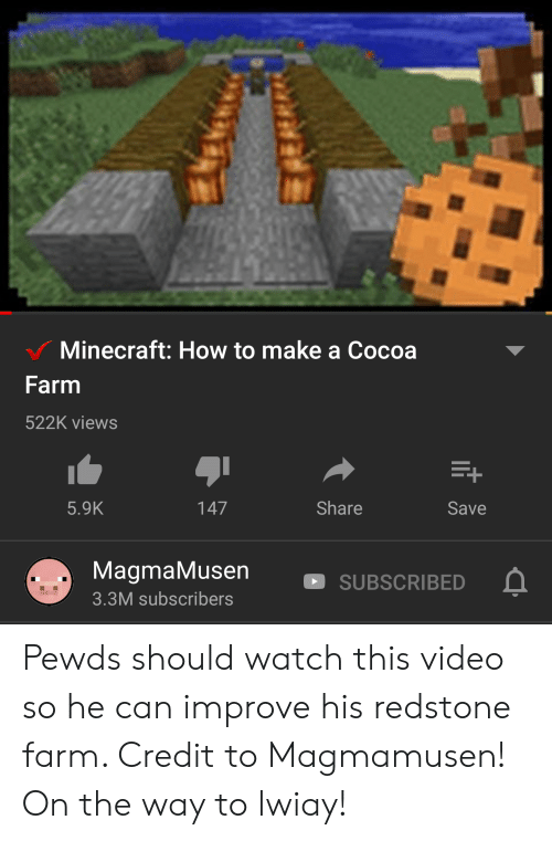 Minecraft How to Make a Cocoa Farm 522K Views Share 59K Save