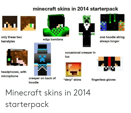 Minecraft Skins in 2014 Starterpack Only These Two One