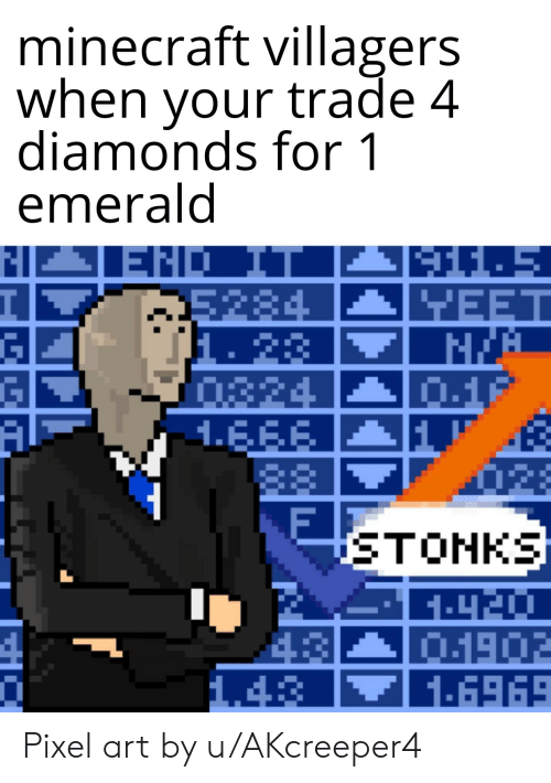 Minecraft Villagers When Your Trade 4 Diamonds For 1 Emerald