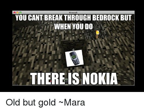 Minecraft YOU CANT BREAKTHROUGH BEDROCK BUT WHEN YOU DO