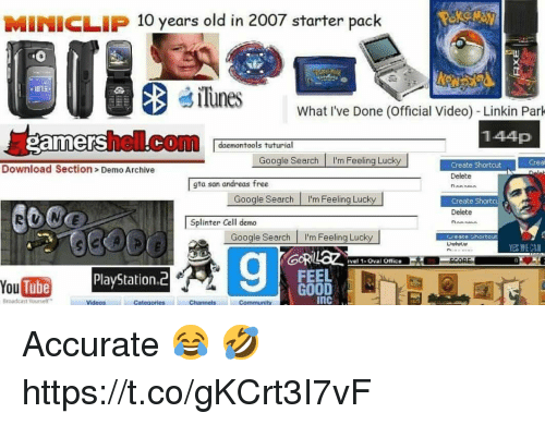 MINICLIP 10 Years Old in 2007 Starter Pack iTunes 1015 What I've