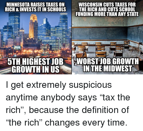 MINNESOTA RAISES TAXES ON RICH & INVESTS IT IN SCHOOLS