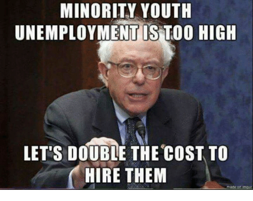 minority youth unemployment is too high lets double the cost 13413922 ✅ 25 best memes about unemployment unemployment memes