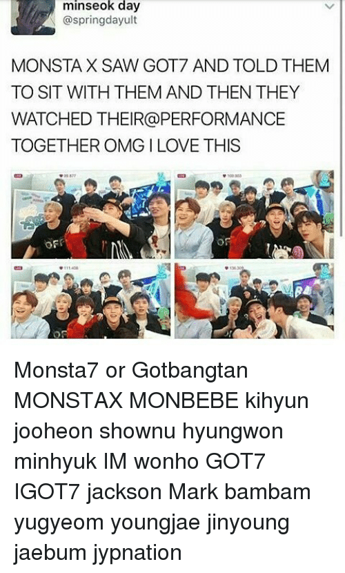 Minseok Day MONSTAX SAW GOT7 AND TOLD THEM TO SIT WITH THEM