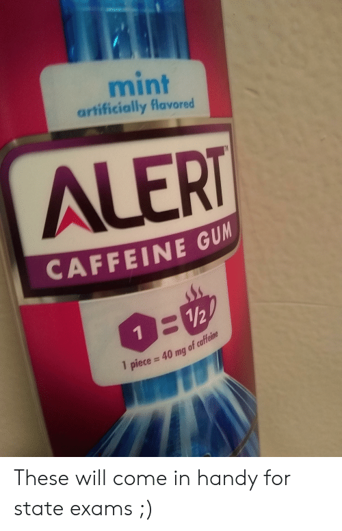 Mint Artificially Flavored ALERT CAFFEINE GU 112 Piece 40 Mg of
