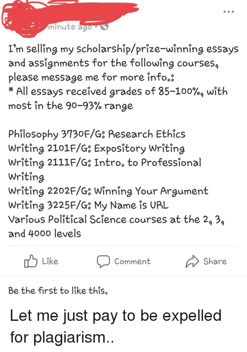 Essay Proposal Example Anaconda Facepalm And Philosophy Minute Im Selling My Scholarshipprize Persuasive Essay Topics High School also Essay On Business Ethics Minute Im Selling My Scholarshipprizewinning Essays And  Essay Of Health