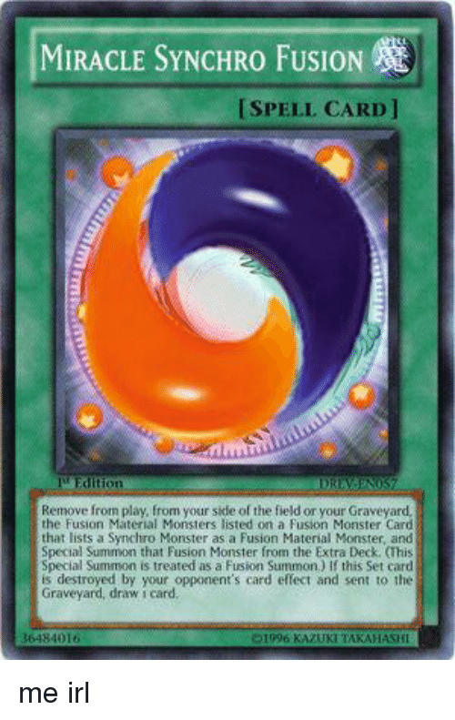 Miracle Synchro Fusion Ispell Card I Edition Remove From Play From