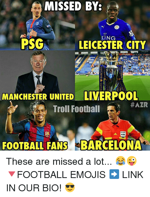 MISSED BY PSG LEICESTER CITY MANCHESTER UNITED LIVERPOOL ... Funny Football Trolls 2017