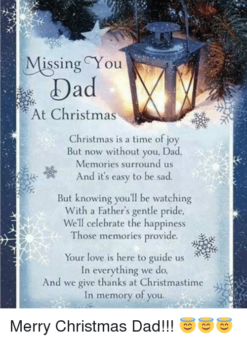 christmas dad and love missing you oad at christmas christmas is a time - Merry Christmas Dad