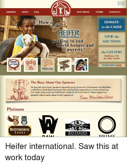 the role and contribution of heifer international to the fight against hunger At less than 1% of the total us budget, these programs build sustainability fight global diseases improve maternal and child health and nutrition help smallholder farmers educate children support democracy and good governance promote human rights provide access to safe water, sanitation, and hygiene strengthen civil society foster.