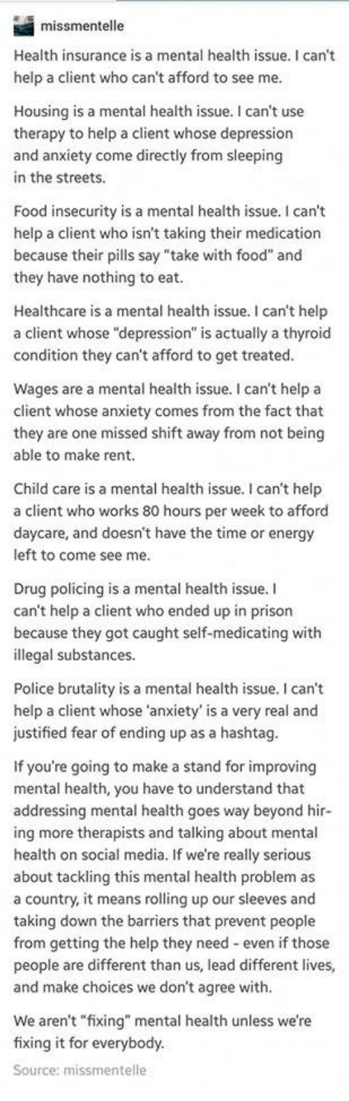When It Comes To Insurance Mental >> Missmentelle Health Insurance Is A Mental Health Issue I Can T Help