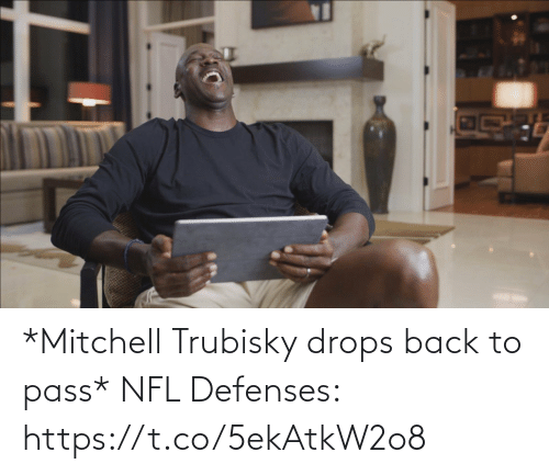 Football, Nfl, and Sports: *Mitchell Trubisky drops back to pass*   NFL Defenses: https://t.co/5ekAtkW2o8
