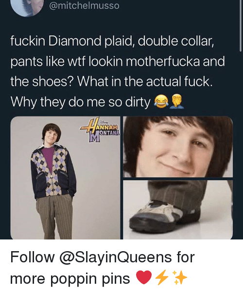00c5c1cacd Shoes, Dirty, and Diamond: @mitchelmusso fuckin Diamond plaid, double  collar,. Follow @SlayinQueens for more poppin pins ...