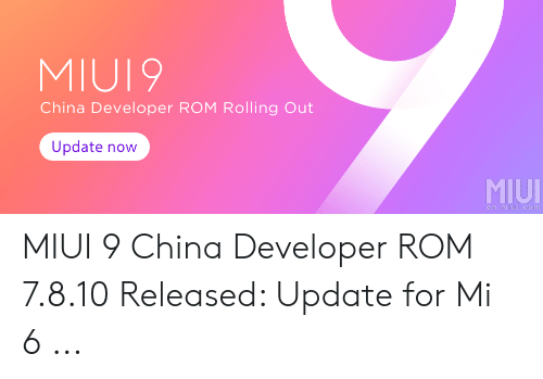 MIUI9 China Developer ROM Rolling Out Update Now MIUI Enmiuicom MIUI