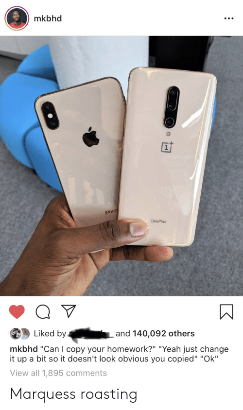Mkbhd 1 iPhon OnePlus Liked by and 140092 Others Mkbhd Can I