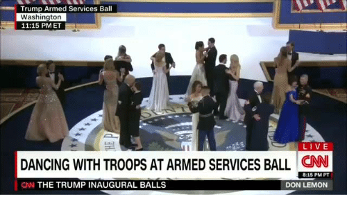 Mm Trump Armed Services Ball Washington 1115 Pm Et Live Dancing With