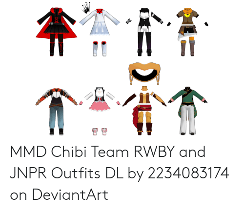 MMD Chibi Team RWBY and JNPR Outfits DL by 2234083174 on