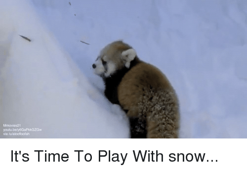 Snow, Time, and Youtu: Mmovies21  youtu.bely6GaPkkGZGw  via /u/aloofloofah It's Time To Play With snow...