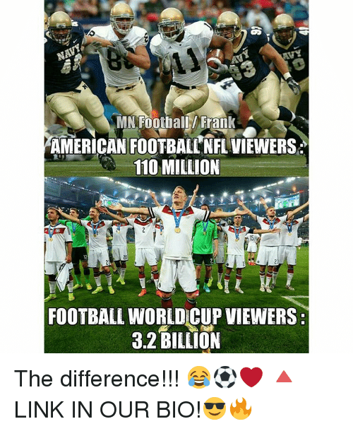 Memes Nfl And World Cup Mn Football Frank American Football Nfl Viewers 110