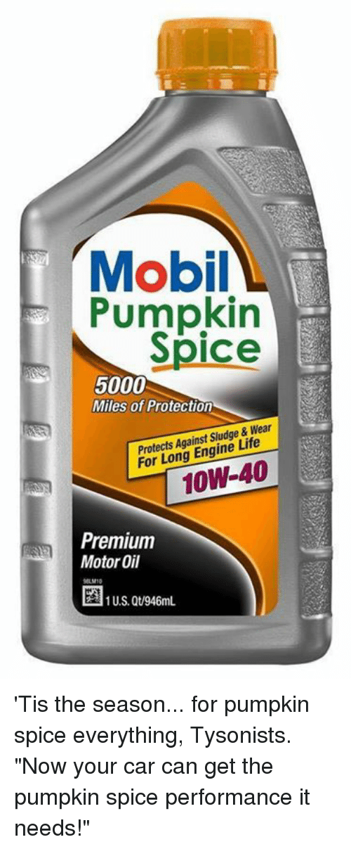 Cars Life And Memes Mobil Pumpkin Spice 5000 Miles Of Protection Protects Against