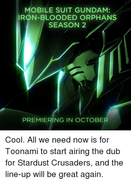 iron blooded orphans dub or sub