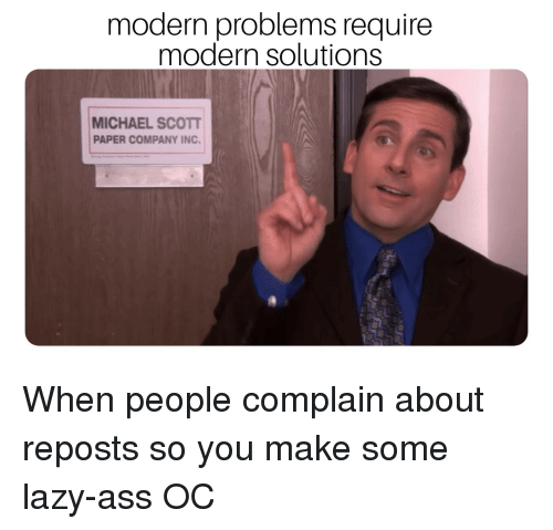 Modern Problems Require Modern Solutions Michael Scot Paper Company