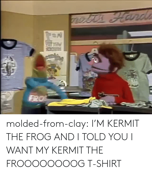 Kermit the Frog, Tumblr, and Blog: molded-from-clay:   I'M KERMIT THE FROG AND I TOLD YOU I WANT MY KERMIT THE FROOOOOOOOG T-SHIRT