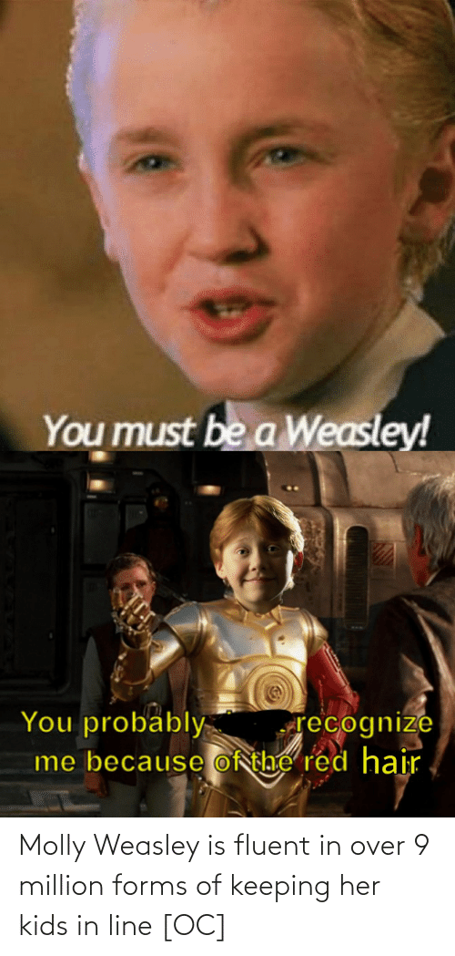 Molly, Kids, and Her: Molly Weasley is fluent in over 9 million forms of keeping her kids in line [OC]