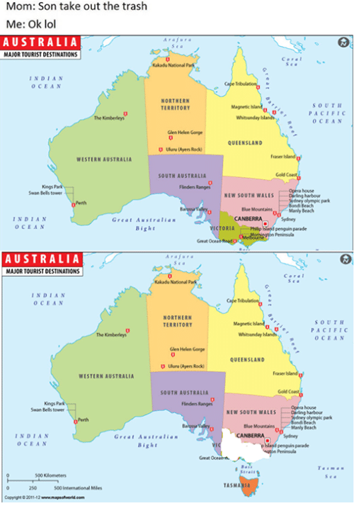 Map Of Australia Kakadu National Park.Mom Son Take Out The Trash Me Ok Lol Australia Kakadu National Park