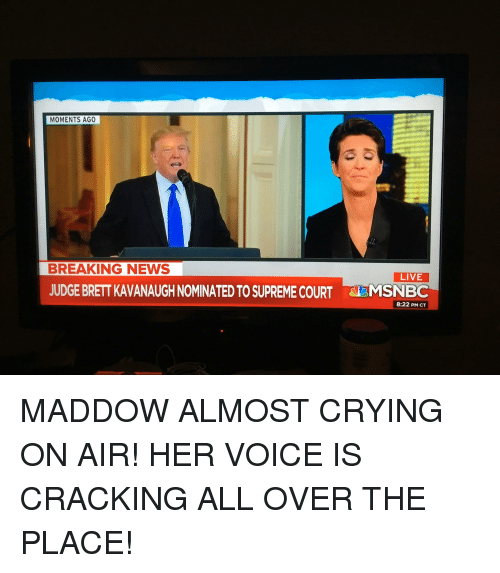 Msnbc Breaking News: MOMENTS AGO BREAKING NEWS LIVE JUDGE BRETT KAVANAUGH