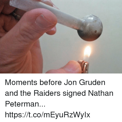 Football, Nfl, and Sports: Moments before Jon Gruden and the Raiders signed Nathan Peterman... https://t.co/mEyuRzWyIx