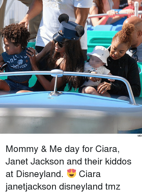 Ciara, Disneyland, and Memes: Mommy & Me day for Ciara, Janet Jackson and their kiddos at Disneyland. 😍 Ciara janetjackson disneyland tmz