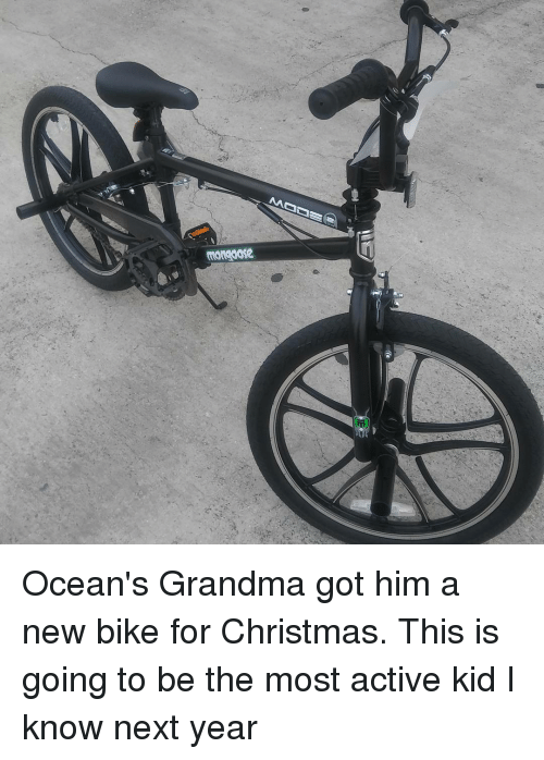 Mongoose M Ocean's Grandma Got Him a New Bike for Christmas This Is