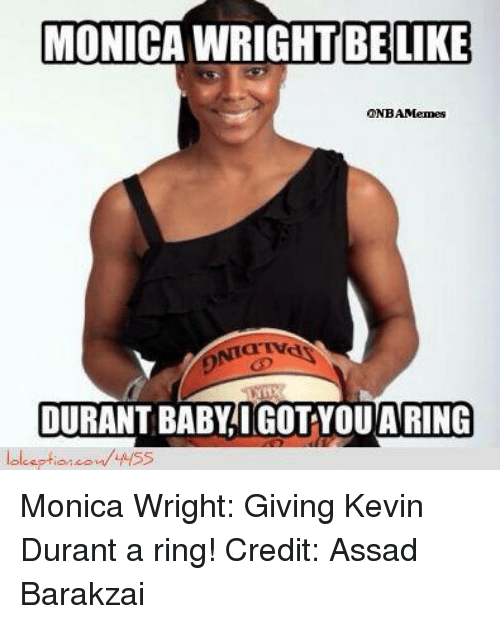 Monica wright and kevin durant dating who