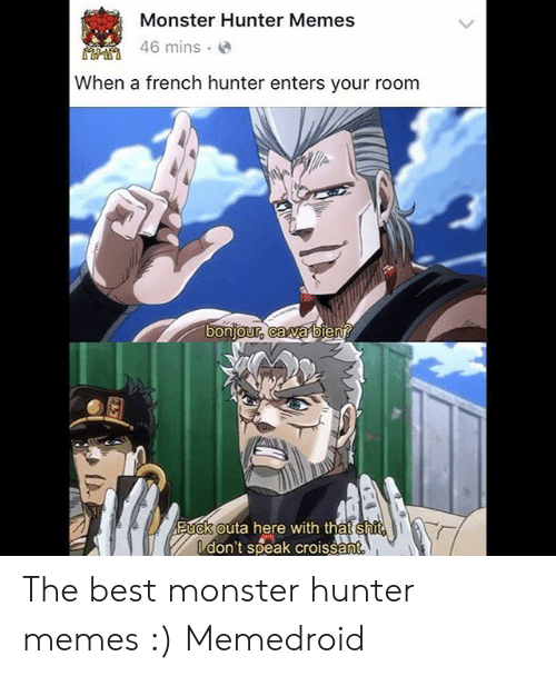 Monster Hunter Memes 46 Mins When A French Hunter Enters Your Room
