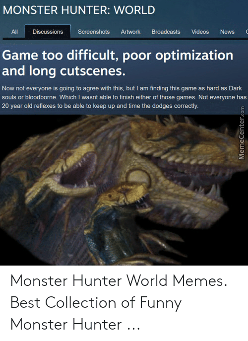 Monster Hunter World Discussions Screenshots Artwork Broadcasts