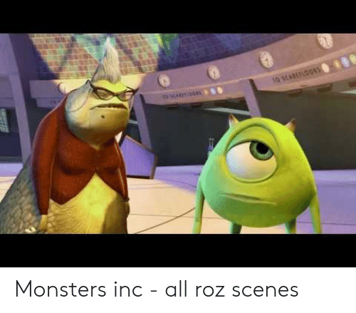 Monsters Inc - All Roz Scenes | Monsters Inc Meme on ME ME