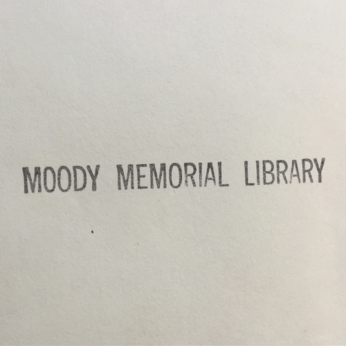 Library, Moody, and Memorial: MOODY MEMORIAL LIBRARY