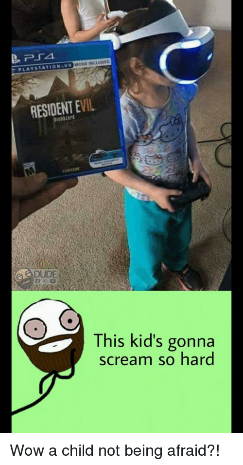 Mooe Included Playstation Vr Resident Evil Dude This Kids Gonna