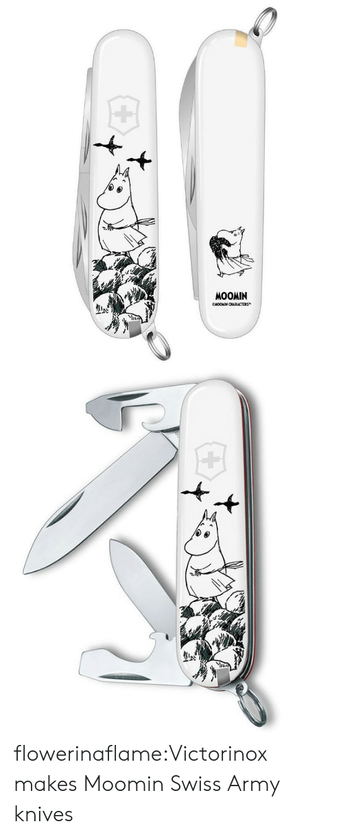 Tumblr, Army, and Blog: MOOMIN  CNOOKIN CHARACTERS flowerinaflame:Victorinox makes Moomin Swiss Army knives