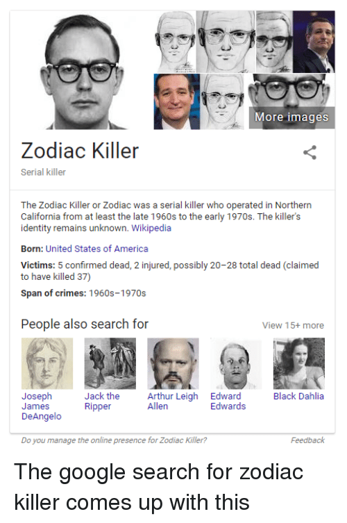More Images Zodiac Killer Serial Killer the Zodiac Killer or