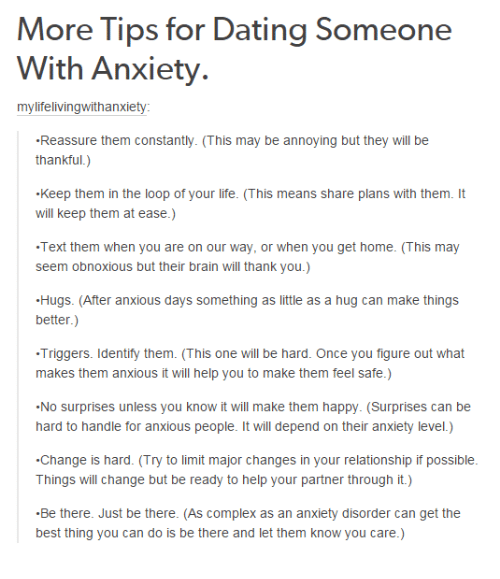 Things To Do When Dating A Girl With Anxiety